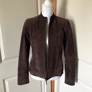 RUFF HEWN Leather Suede Brown Jacket